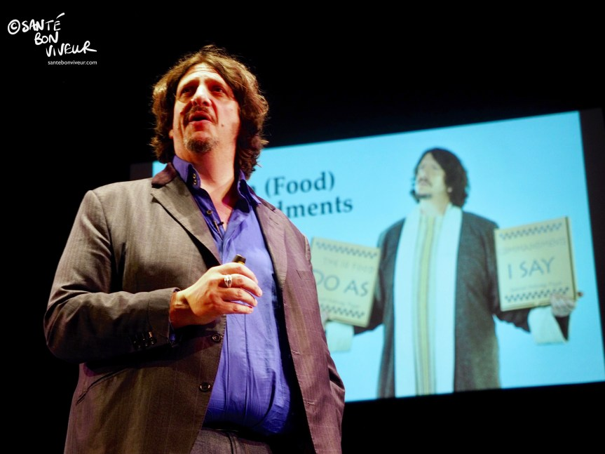 Jay Rayner, Ten (Food) Commandments, Abergavenny Food Festival, Wales, UK, 2017