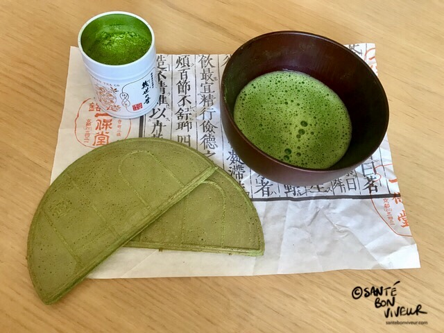 Japanese Matcha Green Tea Pot, Matcha Bowl, Match Green Tea Wafer, 2017