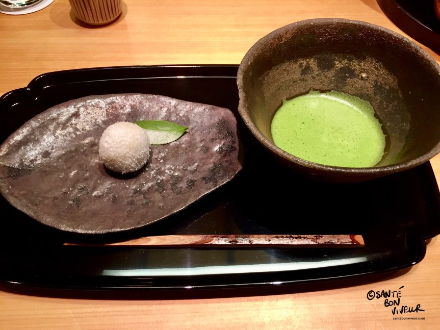 A Bowl of Matcha Green Tea & a Motchi Ball Dessert, Tokyo, Japan, 2017
