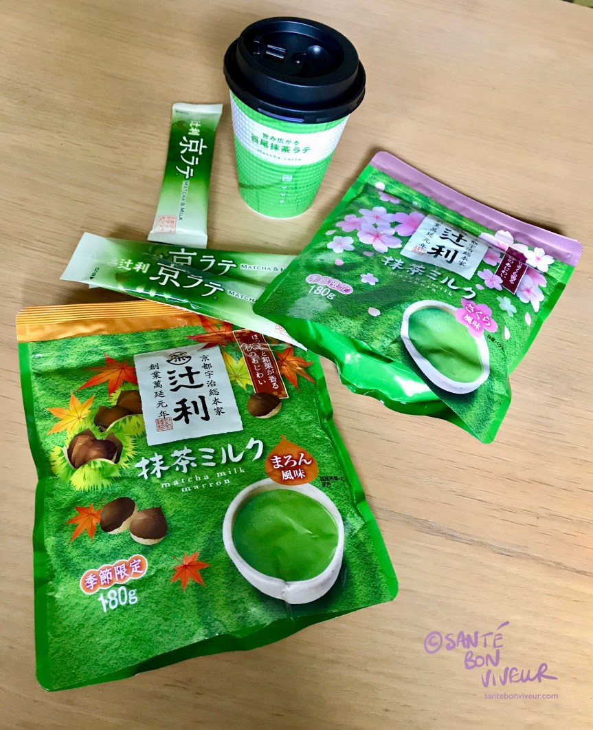 Japanese Instant Matcha Latte Powder Sticks, Packets & Cups in Different Flavours, 2017