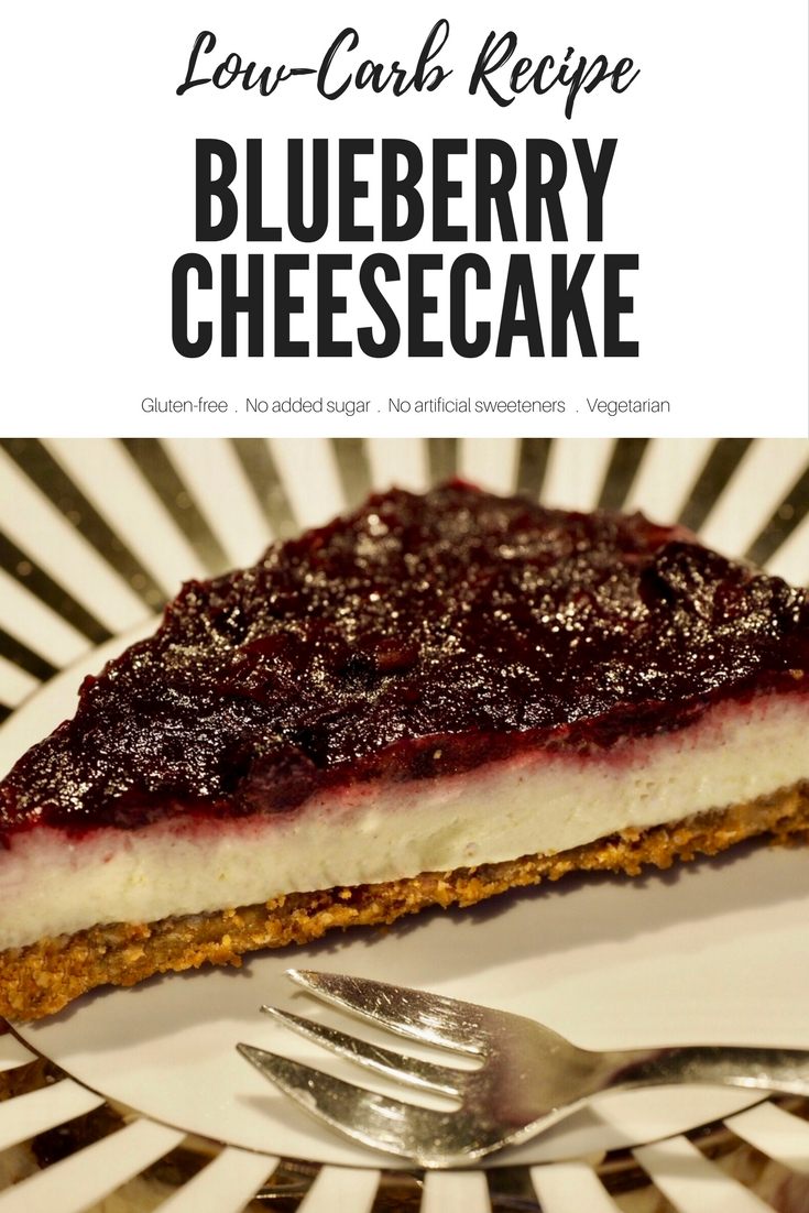 Low-Carb Blueberry Cheesecake