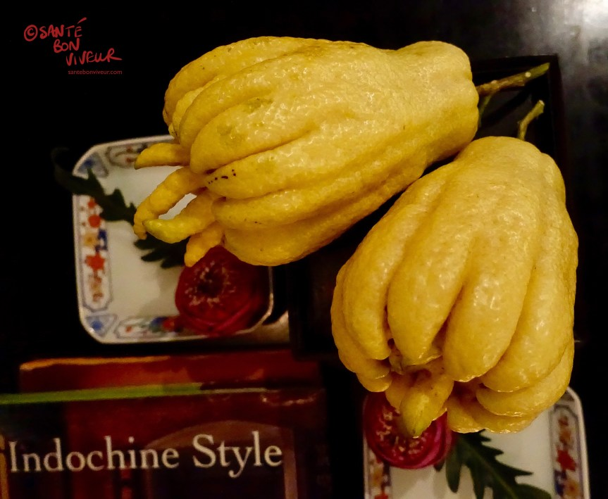 Buddha's Hand Fruit, Noir. Dining in the Dark Restaurant, Ho Chi Minh City/Saigon, Vietnam 2017
