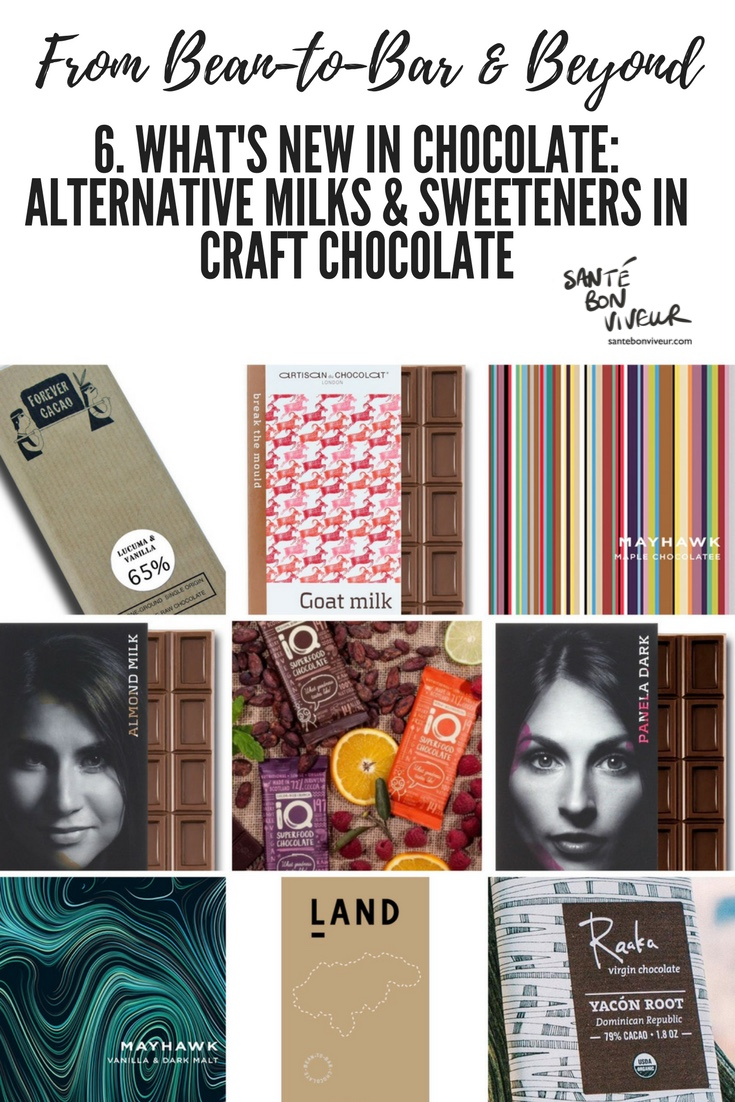 From Bean-to-Bar & Beyond: what's new: craft chocolate containing alternative milks and sweeteners