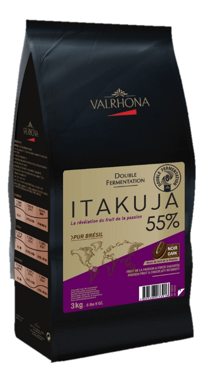 Valrhona Itakuja 55% couverture made with double-fermented cocoa beans