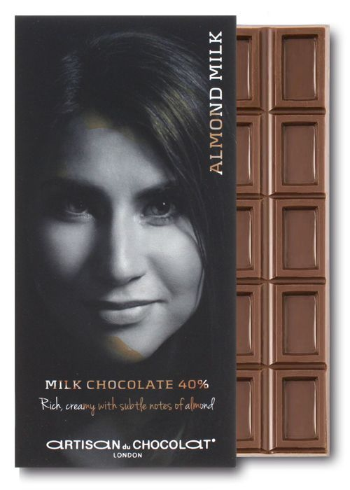 Artisan du Chocolat 40% Almond Milk Bar. Quirky Milks & Sweeteners in Craft Chocolate