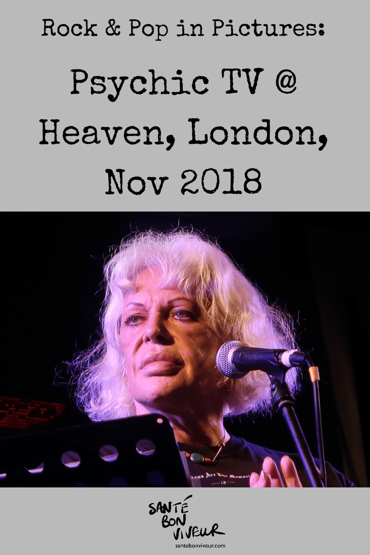Rock & Pop in Pictures: Psychic TV at Heaven, London, Nov 2018