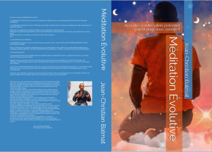 """couverture livre """"Méditation Evolutive"""""""