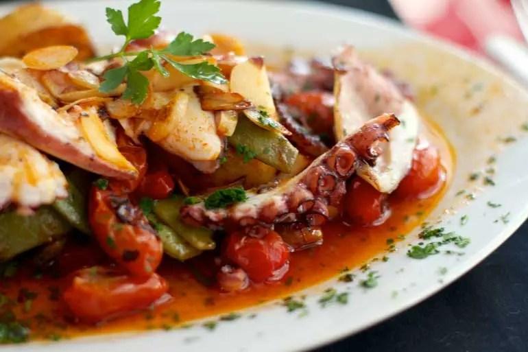 Octopus at Cafe San Juan