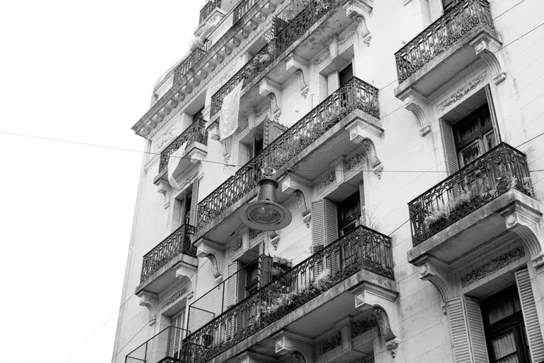 Classic French Architecture On Defensa Street In San Telmo