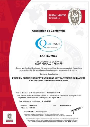 label QUALIPSAD Santélynes