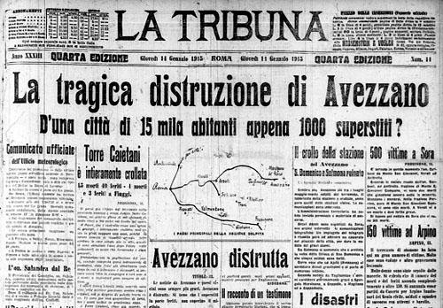 Il terremoto del 1915