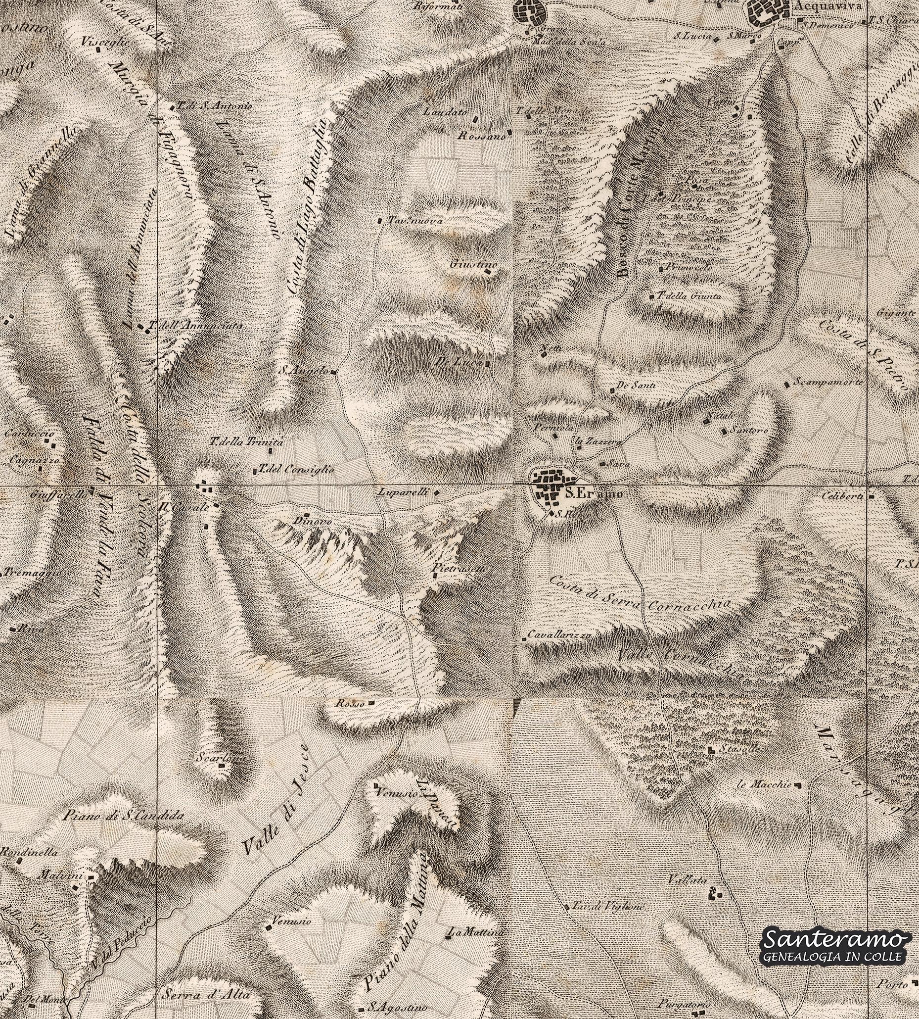 La mappa di Santeramo di inizio ottocento