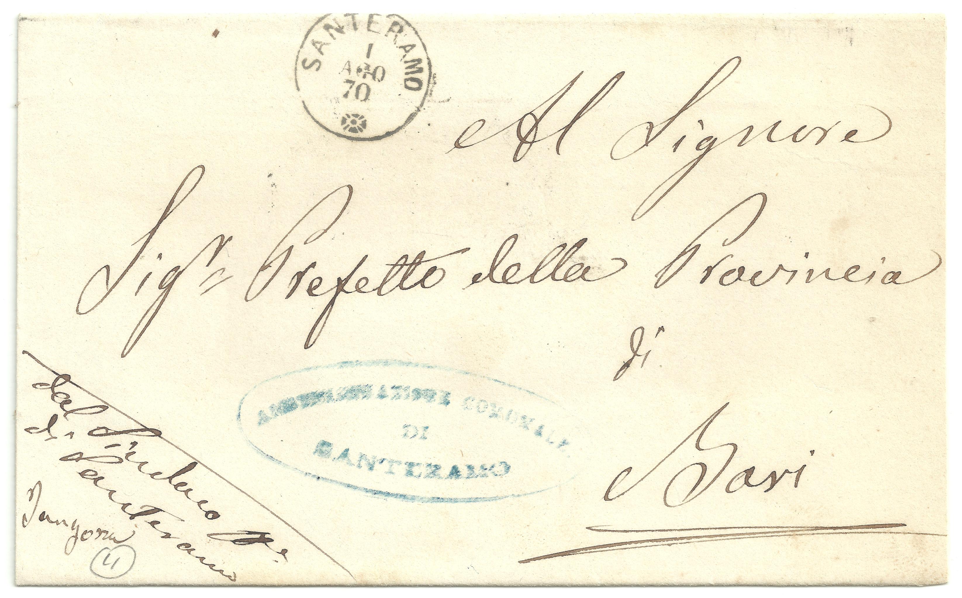 La lettera del sindaco Tangorra al Prefetto