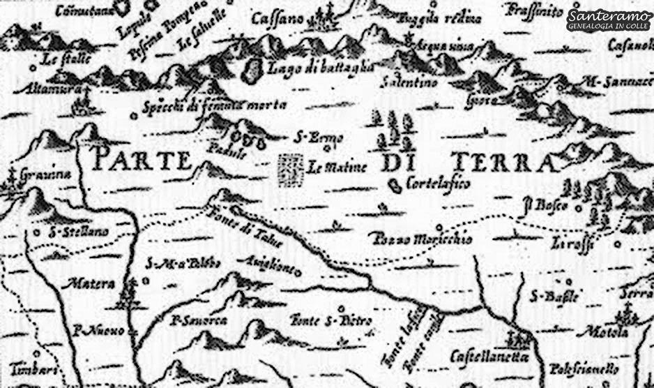 La mappa di Giovanni Antonio Magini del 1620