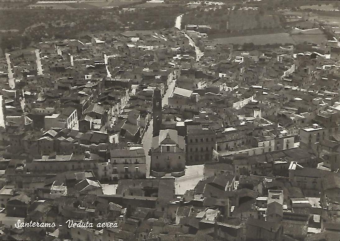 Veduta aerea di Santeramo, 1967