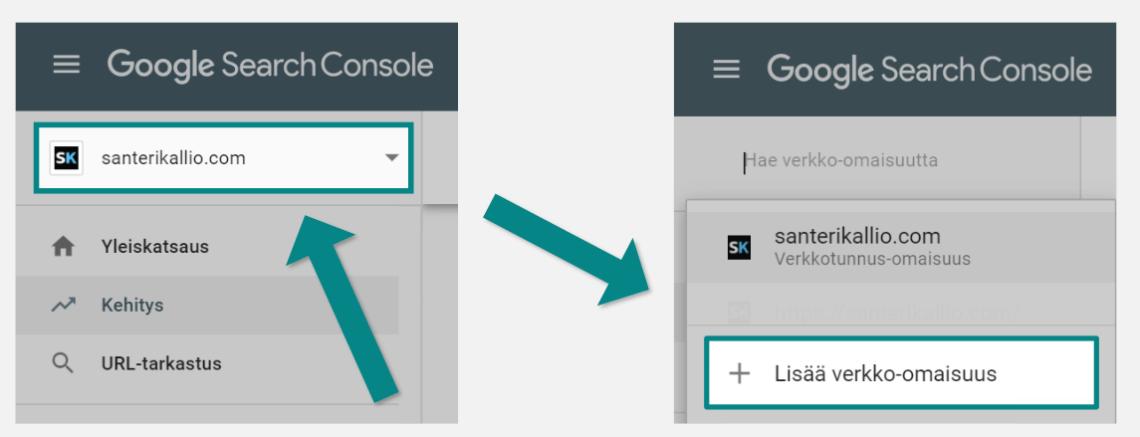 Uuden Search Consolen verkko-omaisuuden luominen