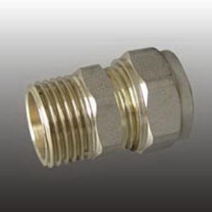 Frap Цанга штуцер 16 х 1/2″ (никель) (240) FR1602