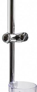 Стойка д/душ (мыльн прозр) хром-60см DEW СД-6705С блистер