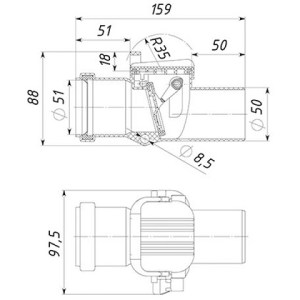 Обратный клапан 50 ТП-86.50