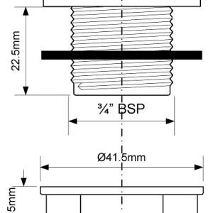 Заглушка пласт.TAPSTOP-23-WH 35mm винт 23 D-3/4 бел