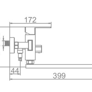 Ledeme L72233 Ванна дл/нос (нерж.)