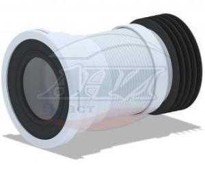 Ани (К918) Муфта (для унитаза +мет/спираль 185-350мм)