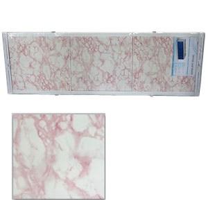 """Экран д/ванны """"Оптима"""" 1.5м пластик Нежн/розовый мрамор"""