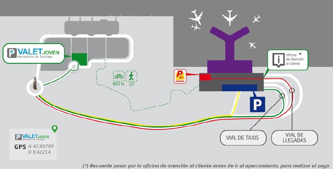Ya se puede aparcar en el párking de la vieja terminal del aeropuerto de Santiago por 3 euros
