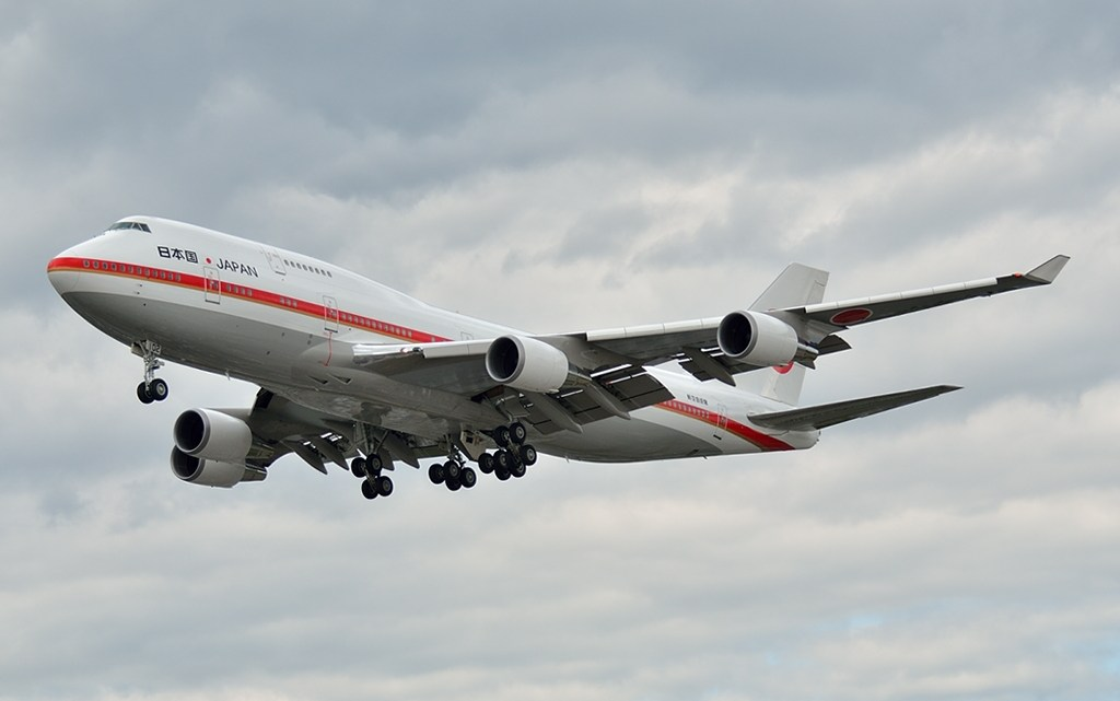 El aeropuerto de Santiago recibe hoy jueves un Boeing 747-400 de la Fuerza Aérea Japonesa