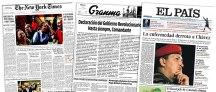 Para el New York Times no es el tema principal. Granma, el diario oficial de Cuba publica una carta de condolencia a los venezolanos. El País de España con una portada plana. No quisieron volver a meter la pata.