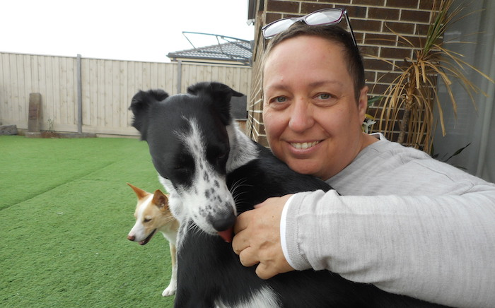 Long Term House Sitting: Sandra with Django the dog.