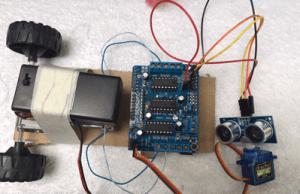 Arduino Tutorial Robot Autonomo Motores Llantas Shield Ultrasonic Sensor Santiapps Marcio Valenzuela