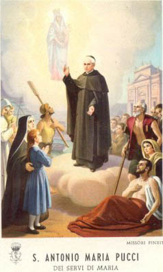 St. Anthony Maria Pucci (I was received on his feast day)