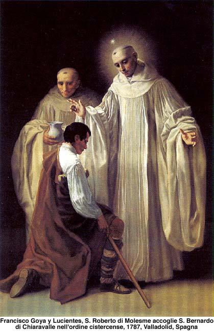 St. Robert of Molesmes receives St. Bernard of Clairvaux (Goya)