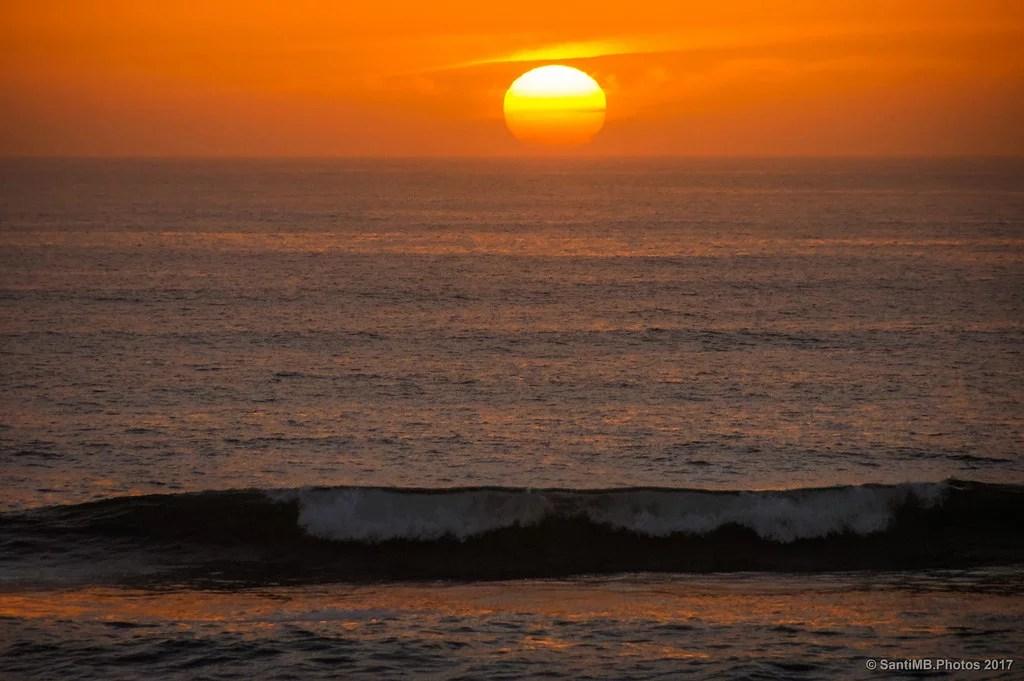 El sol y la ola