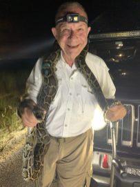Tom Uhler and Captured Python