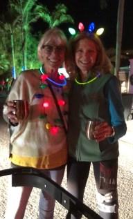 Pam Rosen and Rita Ewell enjoying the Captiva Island Luminary Night