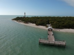 An empty Sanibel Fishing Pier