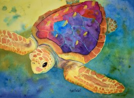 Loggerhead Up Front by Renee Chastant