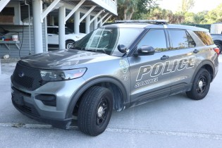 The new Sanibel Police vehicle. SC photo by Chuck Larsen