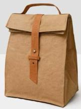 A lunchbag is part of Nature Store2's exclusive line of Out of the Woods products is sustainable, vegan, washable, and reusable