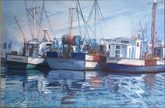 "Belange Harbor Mist, acrylic, 24x36"""