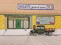 Nostalgic Baileys Pen and Ink by Bob Marshall
