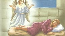 Anjos de Natal: Um anjo visita José sobre a Virgem Maria