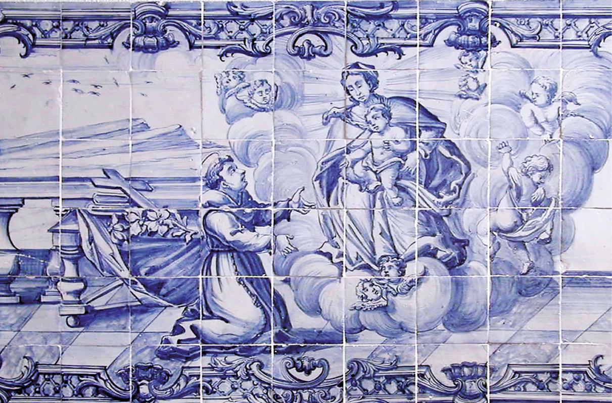 Aparição da Virgem com o Menino a Santo António, painel de Azulejos, autor desconhecido, meados do séc. XVIII. Foto do Museu de Lisboa, José Avelar