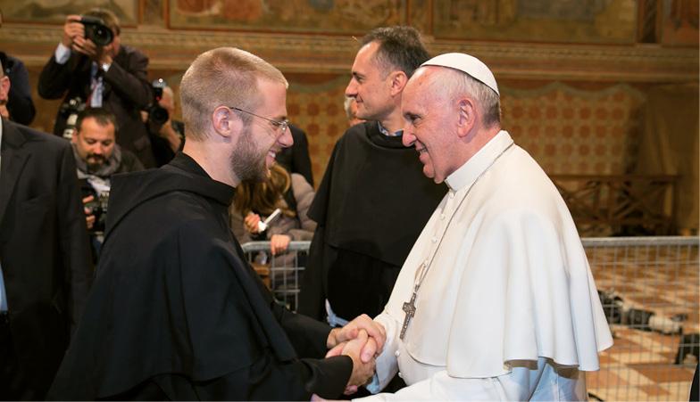 Frei Nico com o Papa Francisco