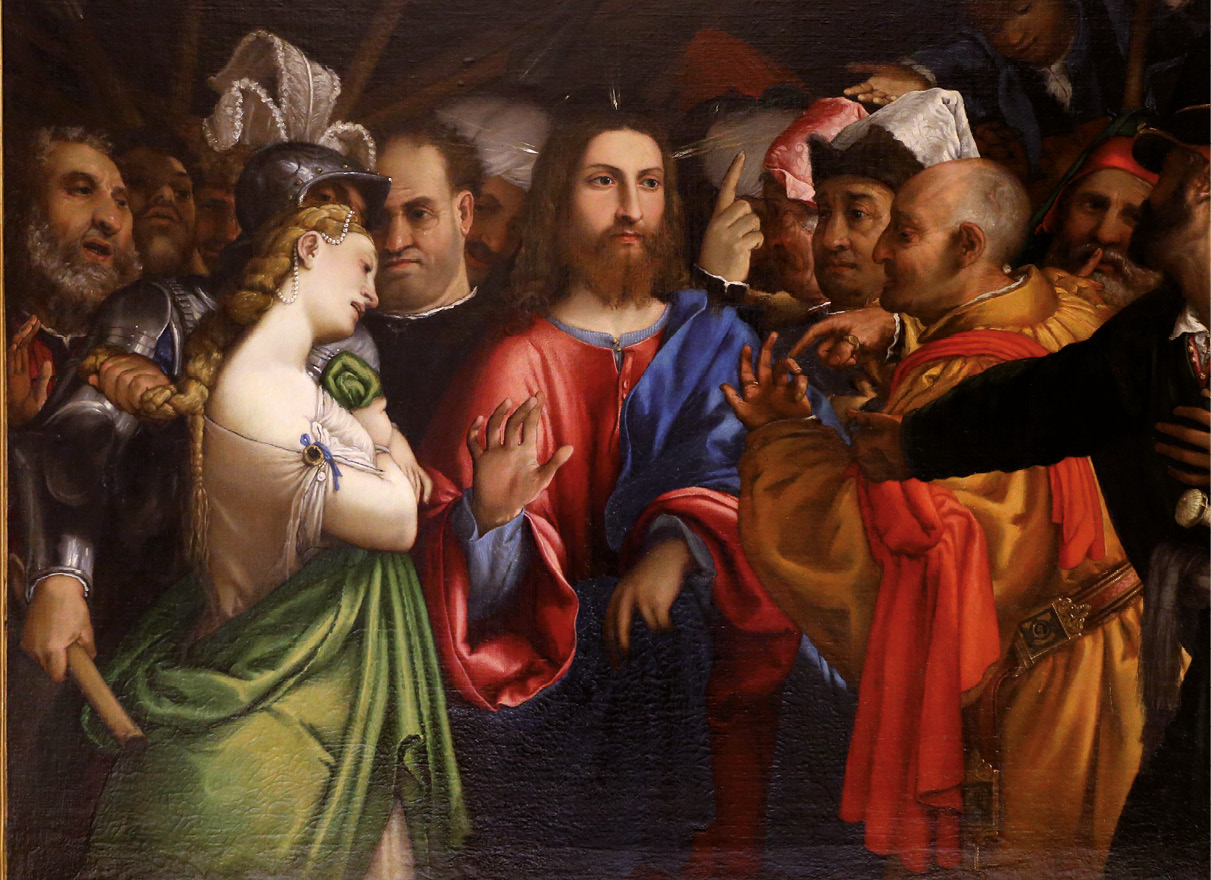 Lorenzo Lotto, Cristo e a adúltera, século XVI
