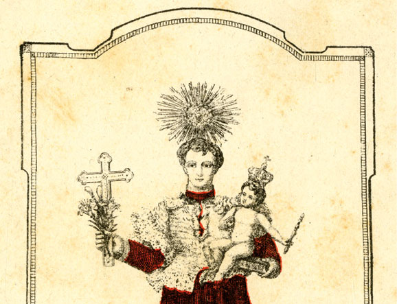 Santo António, pagela, autor desconhecido, MA.GRA.281