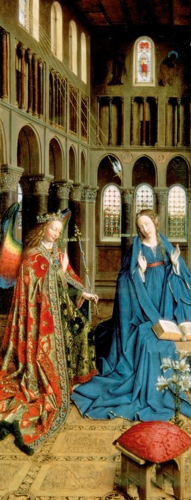 Anunciação, Van Eyck, século XV