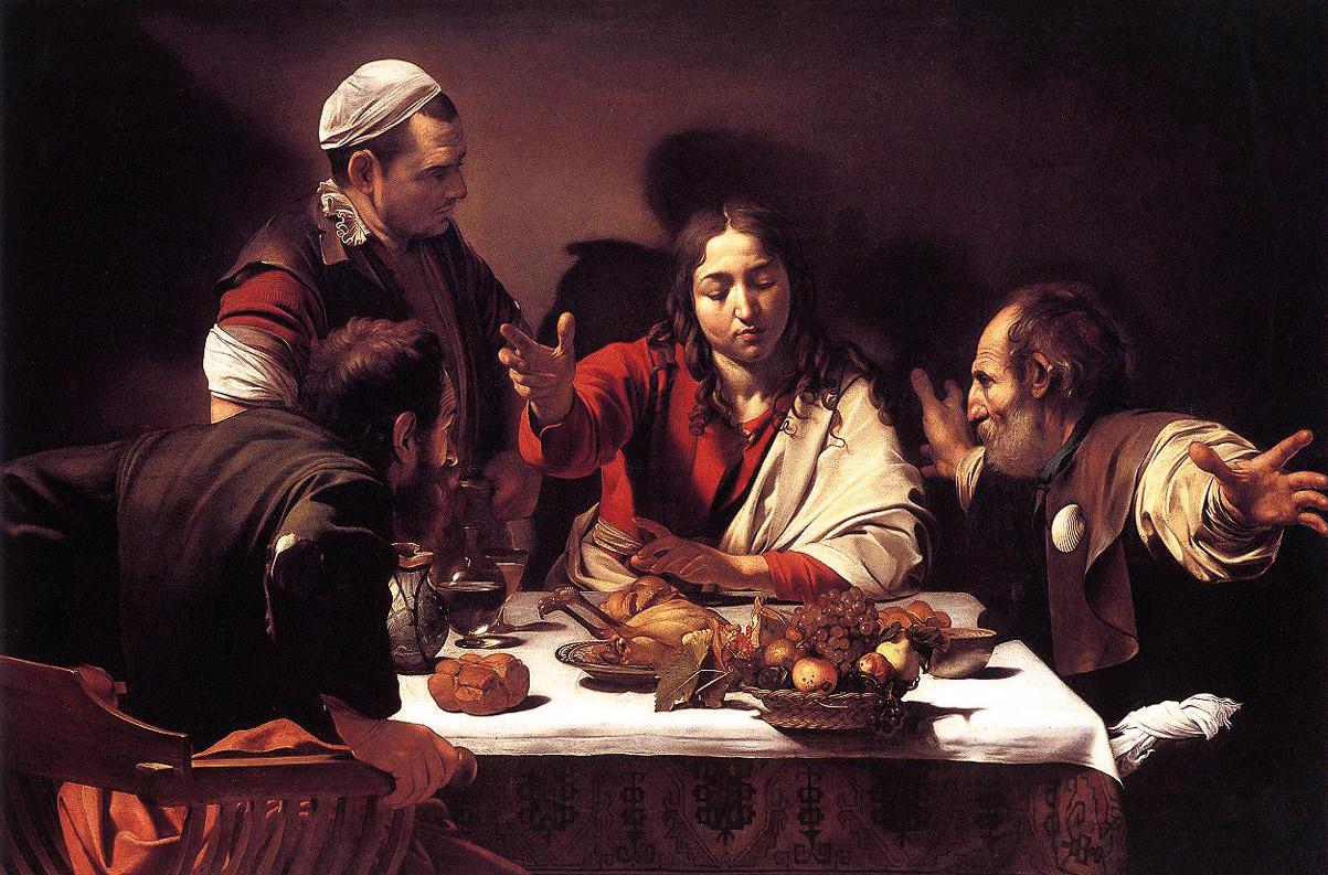 A ceia de Emaús, Caravaggio, https://commons.wikimedia.org